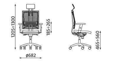 Wymiary krzesła @-MOTION