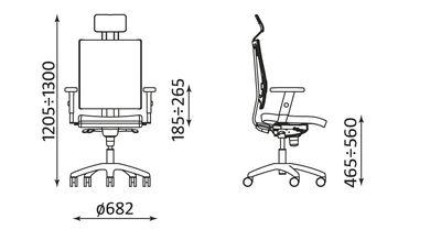 Wymiary krzesła @motion