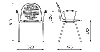 Wymiary krzesła Amigo