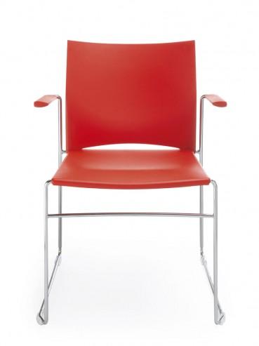 Krzesło konferencyjne Ariz 550V chrom 2P