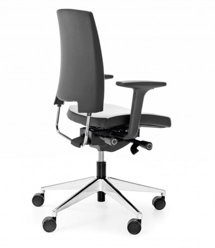 Krzesło obrotowe Arca 21SFL chrom P51PU_bok