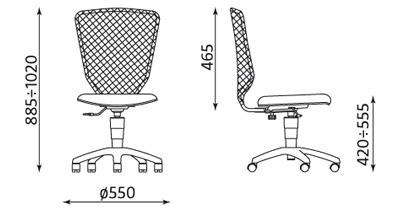 Wymiary krzesła Bobi
