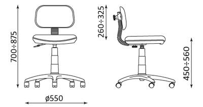 Wymiary krzesła Bambino