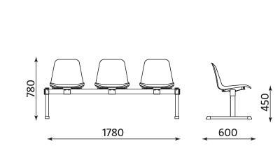 Wymiary ławki Beta