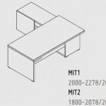 Biurka z komodą Mito