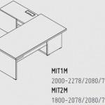 Biurka z komodami  i mediaportem Mito