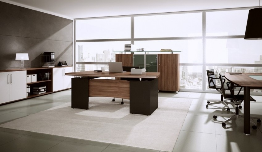 Biurko gabinetowe MARO KONSUL, witryny gabinetowe