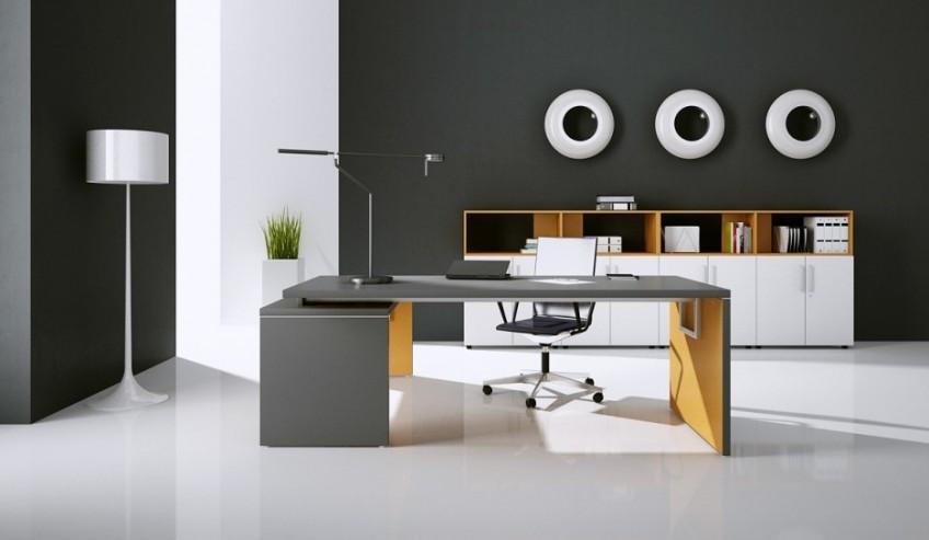 Biurko gabinetowe MARO TORIS oraz szafy aktowe