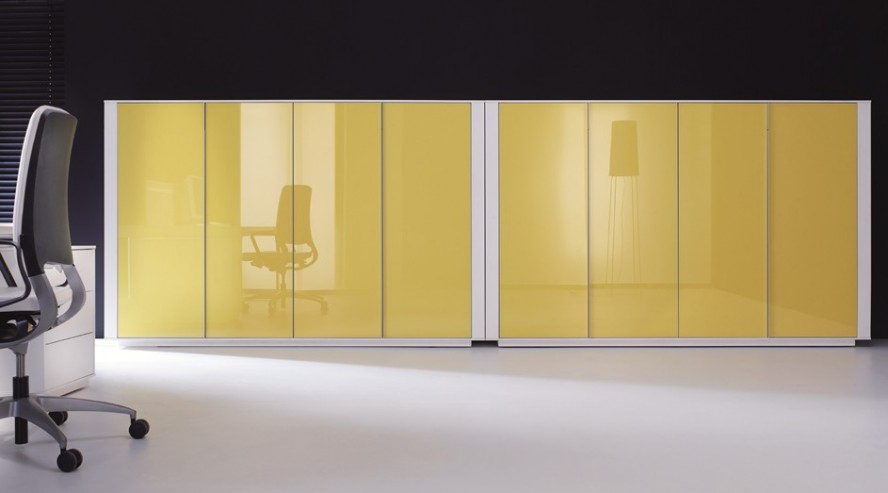 Brand szafy do archiwizacji kolor żółty