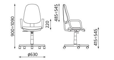 Wymiary krzesła Comfort