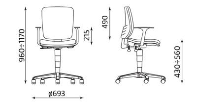 Wymiary krzesła Drop