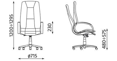 Fotel Formula TS06 wymiary