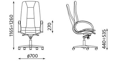 Fotel Formula steel 04 chrome wymiary