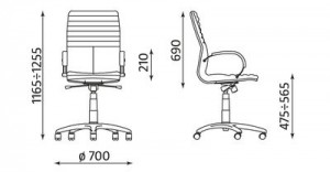 GALAXY steel Alu wymiary fotela