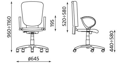 Wymiary krzesła GENERATION