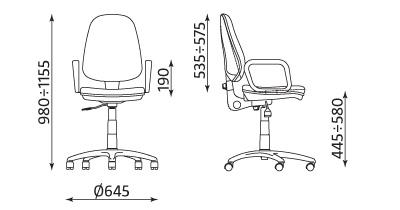 Wymiary krzesła Grand