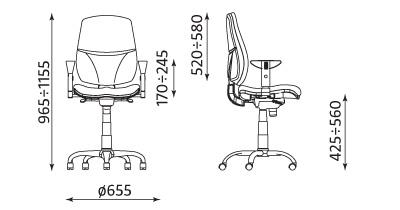 Wymiary krzesła Inspire