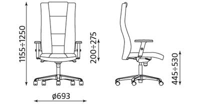 Invitus R17M wymiary fotela