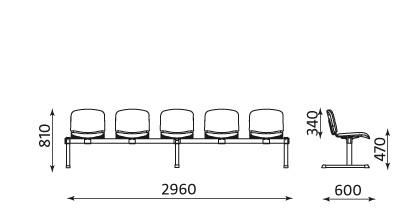 WWymiary ławki Iso
