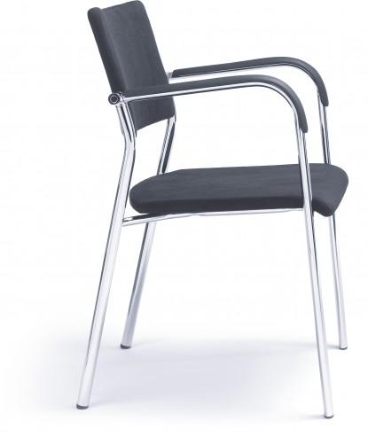 Krzesło konferencyjne KALA 570 H chrom PP_bok