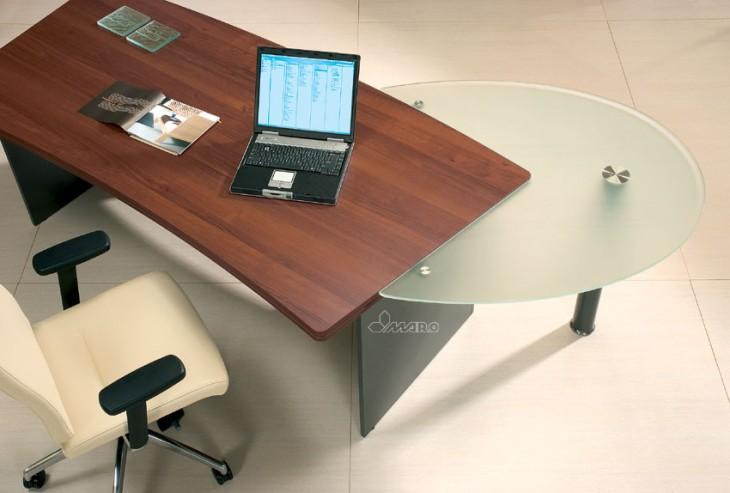 Biurko gabinetowe MARO KONSUL, witryny gabinetowe przystawka