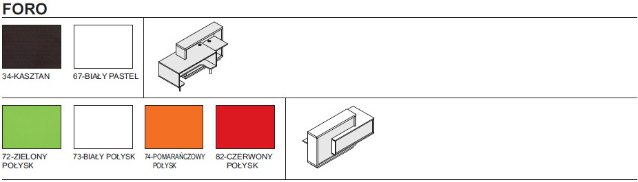 Kolorystyka lad recpecyjnych Foro