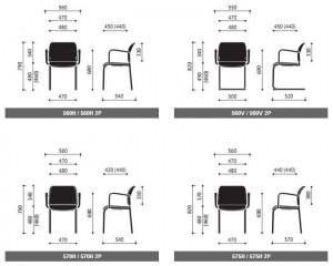 Krzesła konferencyjne Bit wymiary (2)