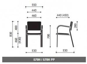 Krzesła konferencyjne Kala wymiary (1)