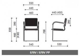 Krzesła konferencyjne Kala wymiary (2)
