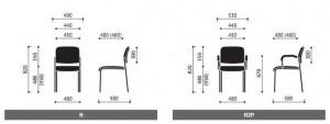 Krzesła konferencyjne Komo wymiary