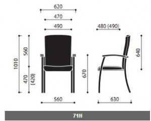 Krzesła konferencyjne Niko wymiary (1)