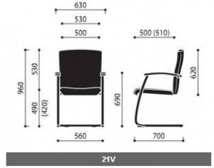 Krzesła konferencyjne Niko wymiary (2)