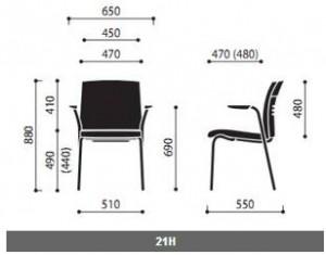 Krzesła konferencyjne One wymiary (1)
