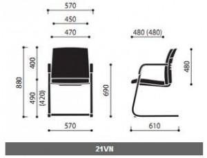 Krzesła konferencyjne One wymiary (3)