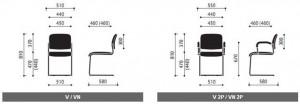Krzesła konferencyjne komo wymiary (2)