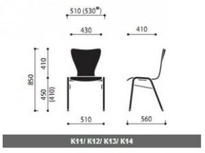 Krzesła sklejkowe Ligo wymiary (1)