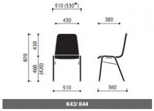 Krzesła sklejkowe Ligo wymiary (4)