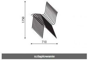 Krzesła sklejkowe Ligo wymiary (5)