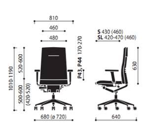Krzesło One 11S 11SL wymiary