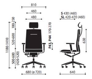 Krzesło One 12S 12SL wymiary