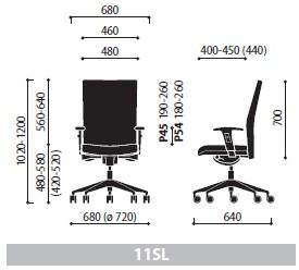 Krzesło Playa 11SL wymiary