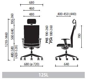 Krzesło Playa 12SL wymiary