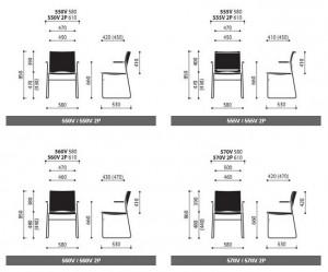 Krzesło konferencyjne Ariz wymiary (1)