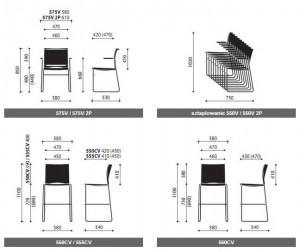 Krzesło konferencyjne Ariz wymiary (2)