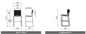 Krzesło konferencyjne Ariz wymiary (3)