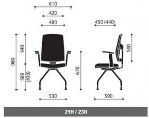 Krzesło konferencyjne Raya wymiary (1)