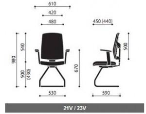 Krzesło konferencyjne Raya wymiary (2)
