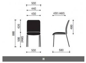 Krzesło konferencyjne Sun wymiary (1)