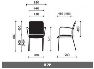 Krzesło konferencyjne Sun wymiary (2)