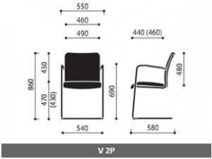 Krzesło konferencyjne Sun wymiary (3)